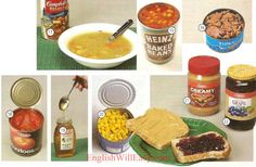 D JARS/CANNED FOOD 15 baked beans 16 tuna fish 17 soup 18 tomatoes 19 honey 20 corn 21 peanut butter 22 jelly