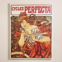 """""""Cycles Perfecta"""" by  Alphonse Mucha at World Market Not as big as the one I bought there but glad to see they are popular!"""