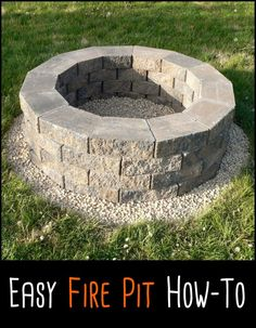 This is probably the easiest fire pit project we've ever come across. Learn about it by heading over to our site now!