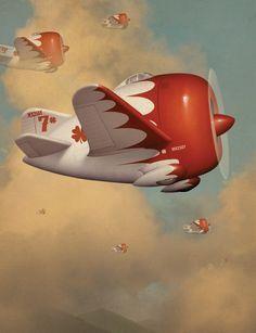 The Incredible Bill Mayer ! Art Pop, Art Deco Posters, Vintage Posters, 3d Art, Airplane Art, Nose Art, Aviation Art, Retro Art, Retro Futurism