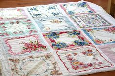 I am soooo doing this with all the vintage handkerchiefs I've been collecting for our wedding