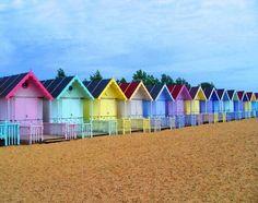 Beach Huts - beach cabanas in Essex, England - Essex Beach, Surf Mar, British Seaside, The Seaside, Beach Cabana, My Pool, Am Meer, Beach Cottages, Cabanas