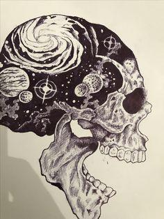 Bad Ass Drawings and Pinnoah On Projects To Try In Tattoo Drawings, Cool Drawings, Tattoo Sketches, Skull Tattoos, Body Art Tattoos, Tattoo Studio, Skull Artwork, Skeleton Art, Desenho Tattoo