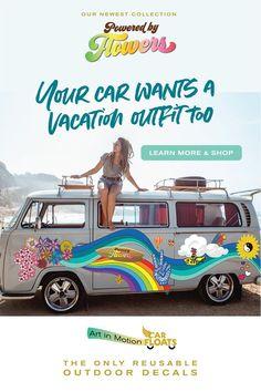 Jeep Decals, Volkswagen Bus, Remodeled Campers, Vacation Outfits, Hippie Chic, Summer Of Love, Camper Van, Van Life, Car Accessories