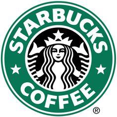 Het logo bestaat uit een wit met zwarte zeemeermin, met een kroon op en twee lange staarten. Er zit om de afbeelding van de zeemeermin een groene rand waar het Starbucks met letters in staat, links en rechts in de groene ring heb je ook nog twee sterren.  De zeemeermin is uit af geleid van een houtsnede van de Vikingen, Starbuck was de naam van het eerste bemanningslid van een Vikingsschip. Het is wel een mooi logo alleen het heeft niet zoveel met het bedrijf te maken.