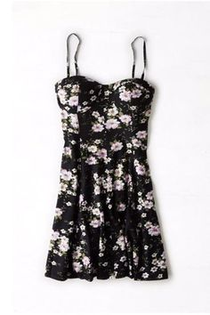 Affordable Summer Dresses | American Eagle Outfitters floral fit and flare dress