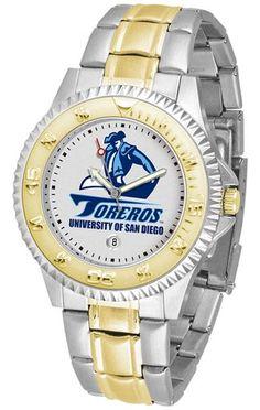 NCAA Men's San Diego Toreros Competitor Two-Tone Watch