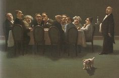 Michael Sowa (born is a German artist known for his whimsical, surreal and stunning paintings often featuring animals. His works ar. Michael Sowa, Henri Matisse, Vladimir Volegov, Claudia Tremblay, Claudio Bravo, Carl Larsson, Writing Classes, Surreal Art, Cat Art