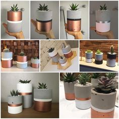 # comments Source by # b … - Garten Design Concrete Pots, Concrete Crafts, Concrete Projects, Concrete Planters, Copper Planters, Beton Design, Flower Pots, Flowers, Diy Flower