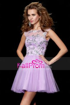 2014 Homecoming Dresses A Line Tulle V Shape Back With Beads