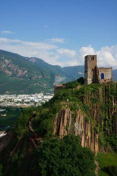 Firmiano Castle near Bolzano, Italy  #travel #castle #skyline #italy #mountains #northern #europe #italia #bolzano #castello #trentino #restored #photography #ruins #wanderlust
