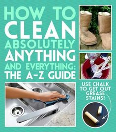 How to clean absolutely anything & everything The A-Z Guide