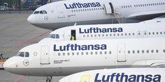 Lufthansa Flieger am Boden