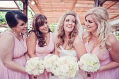 Our Jessie dress in Blush is a hot on these bridesmaids!