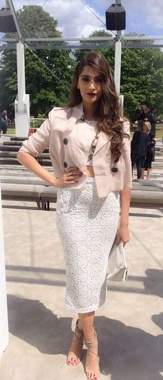 Sonam Kapoor attends Burberry men's show in London