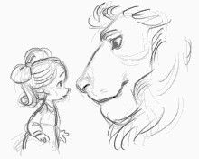 """Lion and little """" who """" girl"""