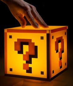 Question Block Light: Officially licensed Super Mario Bros. lamp.