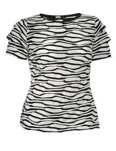 Tuzzi Nero short sleeved top