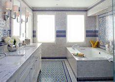 Marokkaans Franse Badkamer : Portugese tegels type fs cm in badkamer impressie
