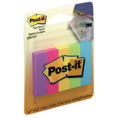 Post-It Notes Mini Page Markers Ultra Brights 500 Pack image Studyblr, Post It 3m, What Is Biology, School Stationery, Page Marker, Note Taking, Study Motivation, School Supplies, College Supplies