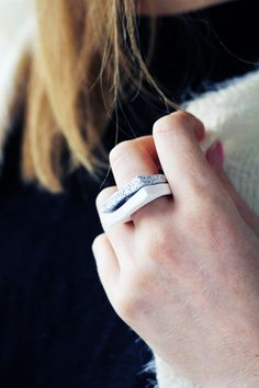 Fall For DIY Faux Granite Rings l
