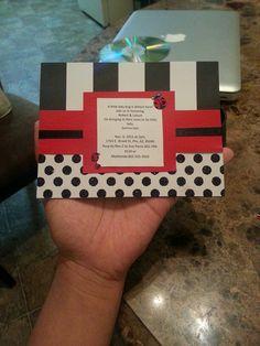 Ladybug Baby Shower Invite! Baby Ladybug, Baby Shower Invitations, Ava, Babyshower, Invite, Cards Against Humanity, Inspiration, Ideas, Baby Shower