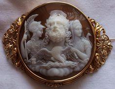 In the Swan's Shadow: Cameo: Zeus, Hera & Athena ca. 1860