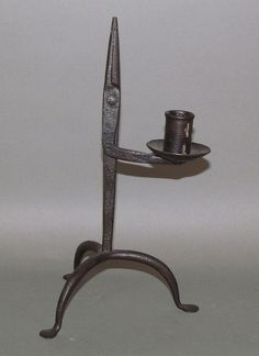 Wrought iron pad footed rush lamp    Sold  Ebay  500.00