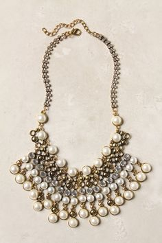 Spiked Beads Bib Necklace via Anthropologie.