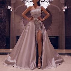[New In] Fashion One Shoulder HIgh Slit Dress - Kleider - Fashion evening &wedding dresses for women, good choice for party, beautiful design and plus size y - African Prom Dresses, African Wedding Dress, Pretty Prom Dresses, Ball Dresses, Elegant Dresses, Ball Gowns, Dress Wedding, Wedding Reception, Dresses Dresses