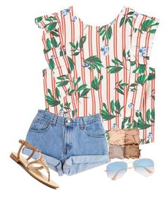 """""""Untitled #269"""" by southern-belle02 ❤ liked on Polyvore featuring MANGO, Levi's, Jack Rogers, Illamasqua and Ray-Ban"""