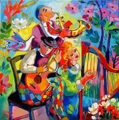 SIOBHAN CASEY: Discovering .... Isabel Le Roux Rainbow Colors, Bright Colors, Colours, Colorful Pictures, Pretty Pictures, Painting Styles, African Paintings, South African Artists, Great Paintings