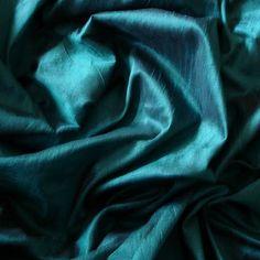 Greenish Blue Art Silk Fabric  1 Yard by FabricMart on Etsy, $10.95