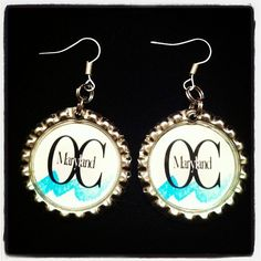 OC Maryland Inspired Handmade Earrings Ocean City is the White Marlin Capital of The World by HochePotBoutique on Etsy