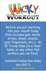 Wacky Wednesday Workout