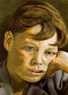 Man's Head, Self Portrait - Lucian Freud - WikiPaintings.org