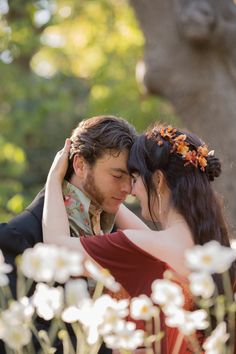 Victorian-Groom-Celtic-Bride-Eyes-Closed http://offbeatbride.com/2014/05/victorian-california-wedding
