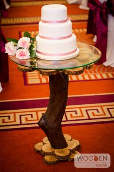 Rustic Cake Table - Handcrafted from Oak and Blackthorn. Rustic Cake, Rustic Theme, Wedding Cake Stands, Wedding Cakes, Handmade Wedding, Rustic Wedding, Cake Table, Reception Decorations, Treats