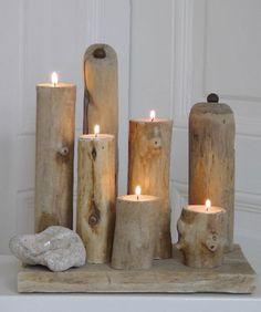 Diy-drift-wood-candle-holder