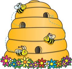 Clip Art Bees and Beehives | Bee Hive Clip Art