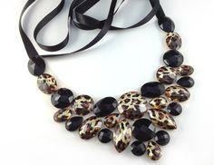 leopard bib necklace