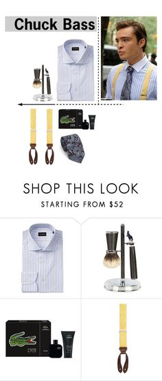 """""""Chuck Bass- Gossip girl"""" by mbnduta ❤ liked on Polyvore featuring Cedes, Lacoste, Trafalgar, Tiger of Sweden, men's fashion and menswear"""
