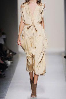 Bottega Veneta Pleated silk-charmeuse dress
