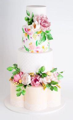 Wedding cake idea; Featured Cake: Cake Ink