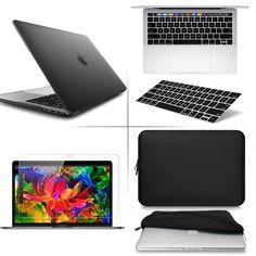 Soft-Touch Hard ShellKeyboardScreenSleeve Bag for Macbook Pro 13 15 Touch Bar