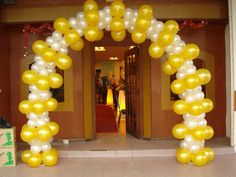 Image result for balloon arch 60th anniversary