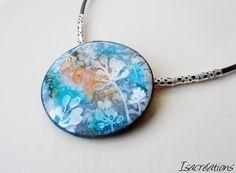 collier rond multicolore motif floral