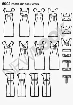 New Look Womens Design Your Look Pattern 6002 New Look Patterns Sewing Dress, Sewing Clothes, Diy Clothes, Sewing Hacks, Sewing Tutorials, Sewing Crafts, Sewing Projects, Sewing Tips, New Look Patterns