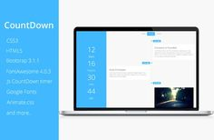 CountDown Coming Soon Theme by ThemeDwarf on @creativemarket