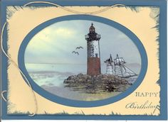 Dawns First Light by - Cards and Paper Crafts at Splitcoaststampers Masculine Birthday Cards, Birthday Cards For Men, Handmade Birthday Cards, Masculine Cards, Nautical Cards, Beach Cards, Hand Made Greeting Cards, Hand Stamped Cards, Stamping Up Cards